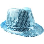 Chapeaux paillette turquoise
