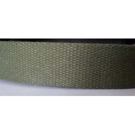 Sangle coton au mètre vert kaki