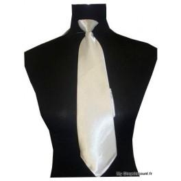 Cravate zip satin