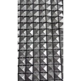 Galon forme pyramide gris