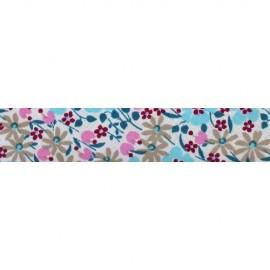 Biais imprimé fleuri C17