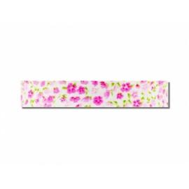 Biais imprimé fleuri C14