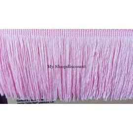 Frange rose clair 10 cm