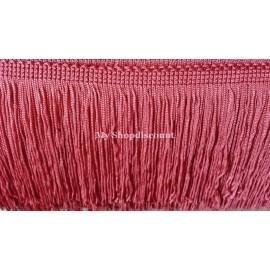 Frange rouge corail 10 cm