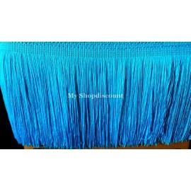 Frange bleu turquoise 15 cm