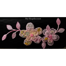 Motif thermocollant grande fleur imprimé