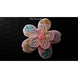 Motif thermocollant petite fleur imprimé