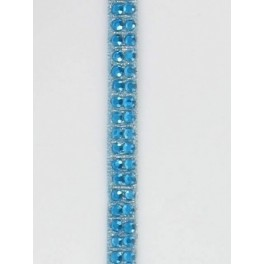 Galon thermocollant strass turquoise