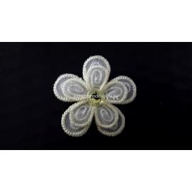 Motif thermocollant double fleur Bella
