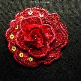 Motif thermocollant fleur rosace