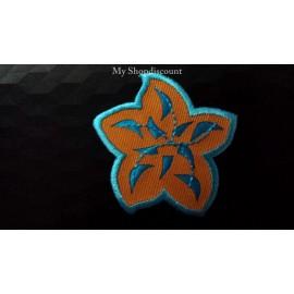 Motif thermocollant pétale fleur