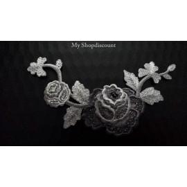 Applique feuille fleur petite