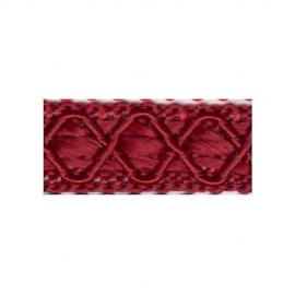 Galon passementerie rouge bordeaux