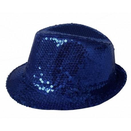Chapeaux paillette bleu