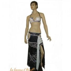 Costume danse orientale -Noir et Blanc