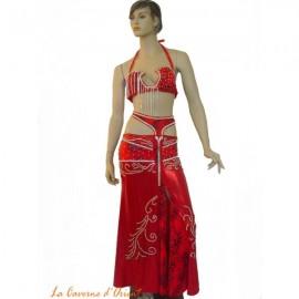 Costume danse orientale -Rouge