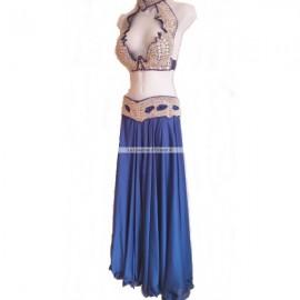 Costume Pro danse orientale-Bleu Roi