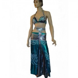 Costume danse orientale -Vert canard