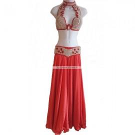 Costume Pro danse orientale-Rouge