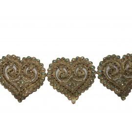 Galon orientale forme coeur X 50 cm