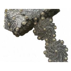 Galon orientale Raina argent X 50 cm