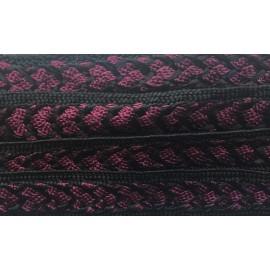Galon Sfifa par 50 cm violet et noir