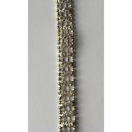 Strass luxe argent