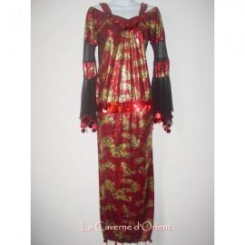 Robe Baladi rouge et doré
