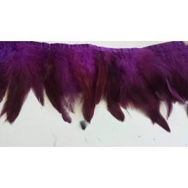 Galon plumes violet X 50 cm