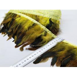 Galon plumes jaune X 50 cm