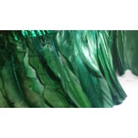 Galon plumes d'oie vert