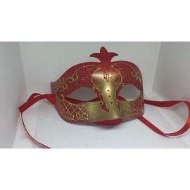 Masque rouge et doré