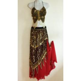 Costume danse orientale Butterfly rouge