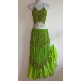 Costume danse orientale Butterfly vert