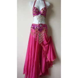 Ensemble danse orientale rose fuschia