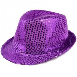 Chapeaux paillette violet