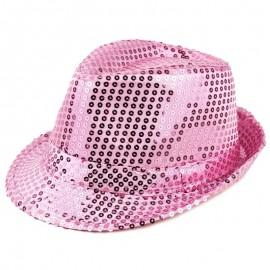 Chapeaux paillette rose clair