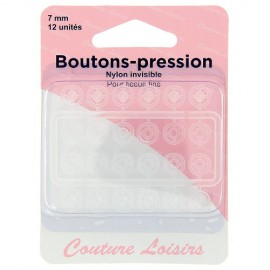 Boutons pression nylon invisible - 7 mm
