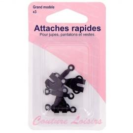 Attaches Rapides noires - Grand modèle