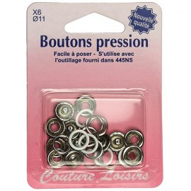 Boutons pression blanc - 11 mm