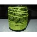 Rouleau galon paillettes vert anis