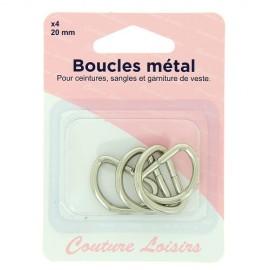 Boucles métal - 20 mm