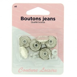 Boutons jeans nickelés