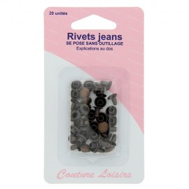 Rivets jeans couleur bronze