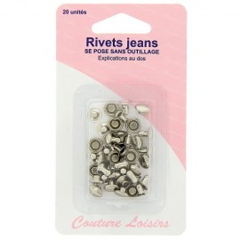 Rivets jeans nickelés