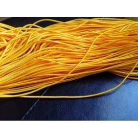 Elastique rond jaune 2 mm