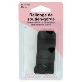 Rallonge de soutien-gorge noir - 28 mm