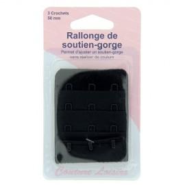 Rallonge de soutien-gorge noir - 50 mm