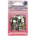 Boutons pressions nickelées - 15 mm