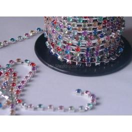 Chaine de strass multicolore